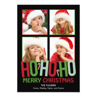 Ho Ho Ho Christmas Holiday Photo Cards Invitation