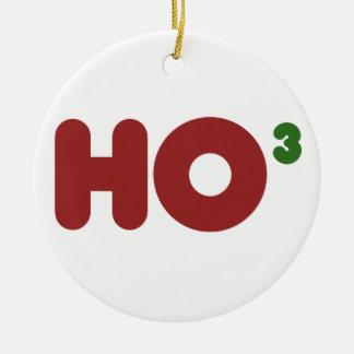 Ho ho ho christmas humor round ceramic decoration