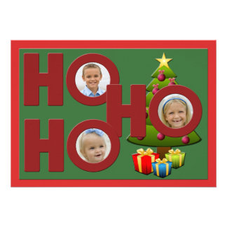 Ho Ho Ho Christmas Photo Card Personalized Invite