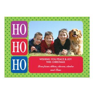Ho Ho Ho Christmas Photo Card Invites