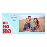 Ho-Ho-Ho Christmas Photocard Personalized Photo Card