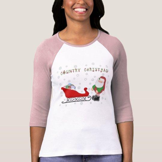 Ho Ho Ho Country Christmas Santas Sleigh L