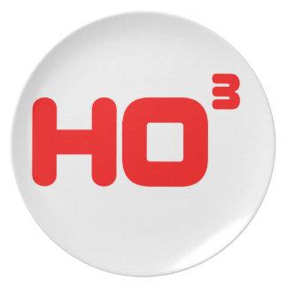 Ho Ho Ho -  Cubed - Funny Christmas Design Party Plates