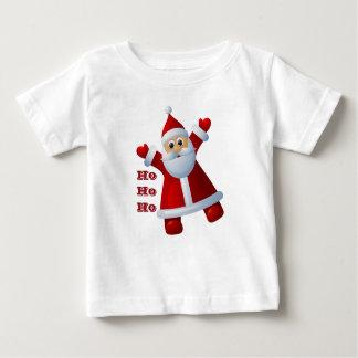 HO! HO! HO! Cute Santa Claus Merry Christmas Baby T-Shirt