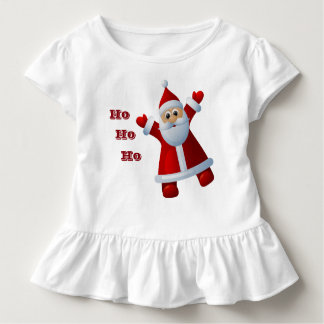 HO! HO! HO! Cute Santa Claus Merry Christmas Toddler T-Shirt