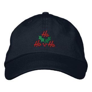 Ho Ho Ho Embroidered Cap