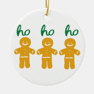ho ho ho ginger breadman Circle Ornament