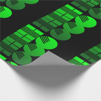 ho ho ho green neon retro wrapping paper