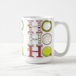 HO HO HO Happy Holiday Christmas Cheer Mugs