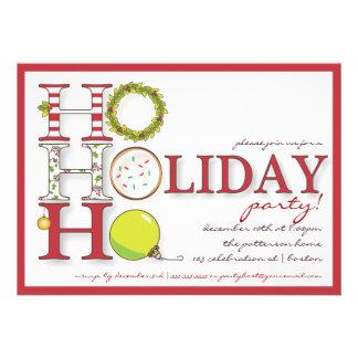 HO HO HO Happy Holiday Christmas Party Custom Invitations