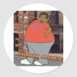 Ho Ho Ho Ho Ho It's Chubby Alfred! Round Stickers