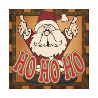 Ho Ho Ho Holiday Santa Claus Canvas