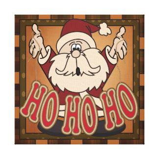 Ho Ho Ho Holiday Santa Claus Canvas Canvas Print