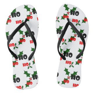 Ho Ho Ho Holly & Berries Flip Flops