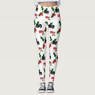 Ho Ho Ho Holly & Berries Leggings