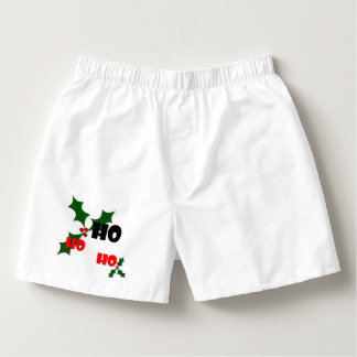 Ho Ho Ho Holly & Berries Men's Boxers