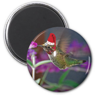 Ho Ho Ho Hummingbird 6 Cm Round Magnet