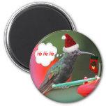 Ho Ho Ho Hummingbird Fridge Magnet