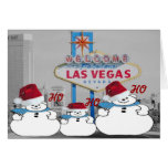 HO HO HO Las Vegas Christmas Card
