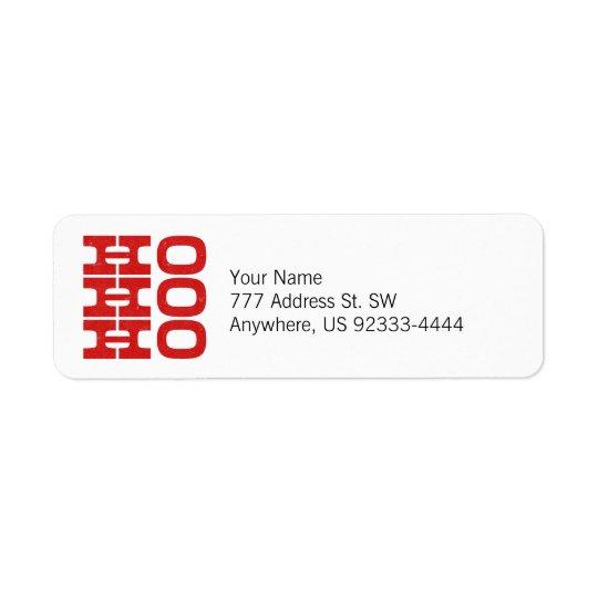 Ho Ho Ho (letterpress style)