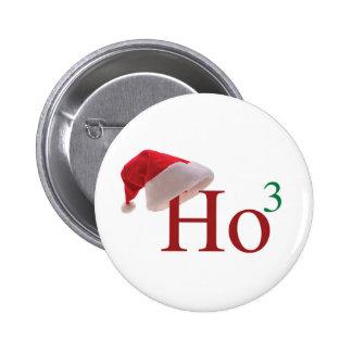 Ho Ho Ho Merry Christmas 6 Cm Round Badge