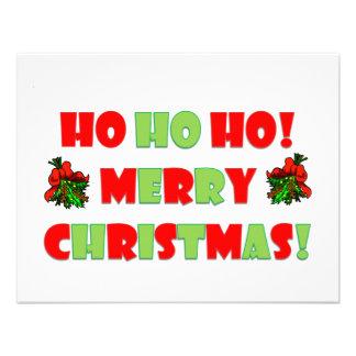 Ho Ho Ho Merry Christmas Custom Invites