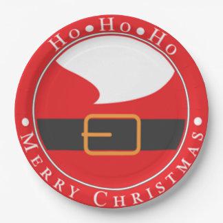 Ho Ho Ho Merry Chritmas 9 Inch Paper Plate