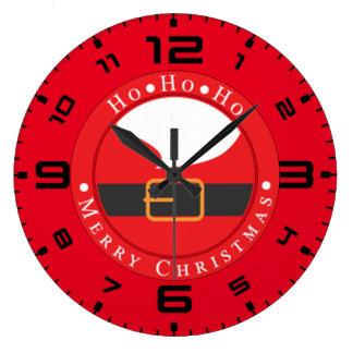 Ho Ho Ho Merry Chritmas Wallclock