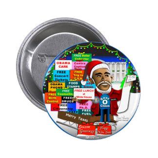 Ho Ho Ho Obama 6 Cm Round Badge