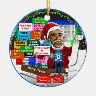 Ho Ho Ho Obama Round Ceramic Decoration