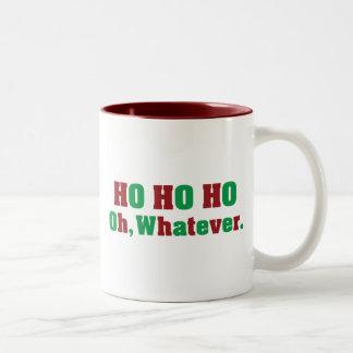 Ho Ho Ho Oh Whatever Two-Tone Mug