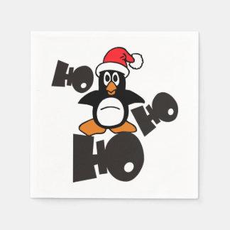 Ho Ho Ho - Penguin - merry christmas + your idea Paper Serviettes