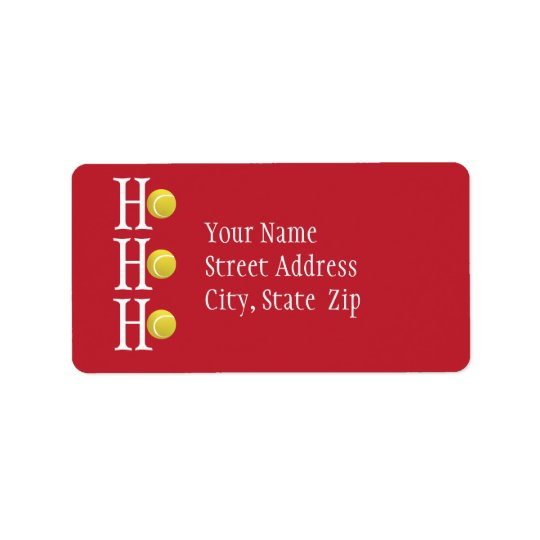 HO-HO-HO - personalised address label