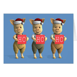 Ho Ho Ho Piglets Card