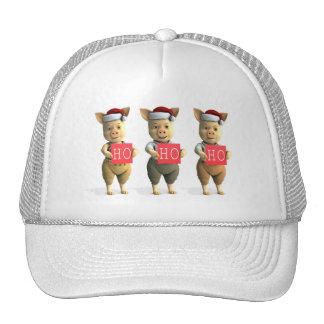 Ho Ho Ho Piglets Trucker Hats
