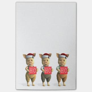 Ho Ho Ho Piglets Post-it Notes