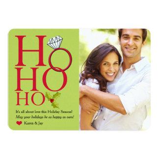 """Ho Ho Ho Ring Holiday Photo Card 5"""" X 7"""" Invitation Card"""