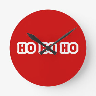 HO HO HO ROUND CLOCK