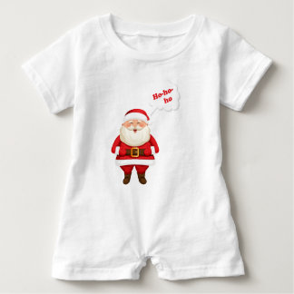 Ho ho ho Santa all Smiles Baby Bodysuit