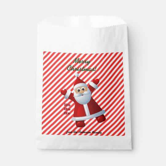HO! HO! HO! Santa Claus Merry Christmas Candy Cane Favour Bags
