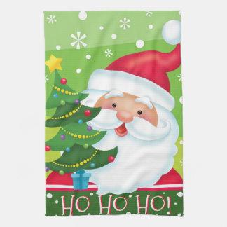 HO HO HO Santa Kitchen Towel