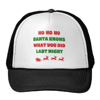 Ho Ho Ho Santa Knows What You Did Mesh Hat