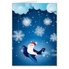 Ho ho ho! Santa on the aeroplane Card