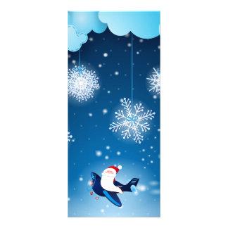 Ho ho ho! Santa on the airplane, rack card