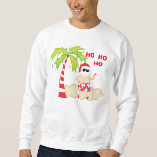 HO HO HO Tropical Santa Christmas Sweatshirt
