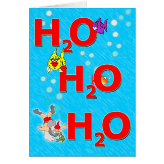 Ho Ho Ho underwater Christmas Card
