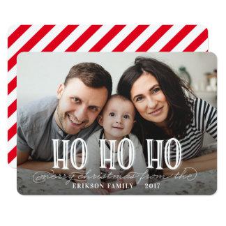 HO HO HO-WHITE CARD