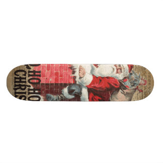 Ho,Ho Merry Chirstmas Santa Claus Dictitionary Art Custom Skate Board