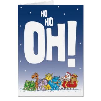 Ho Ho Oh Santa Card