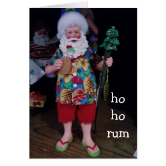 HO HO RUM CASUAL CHRISTMAS WISHES GREETING CARD